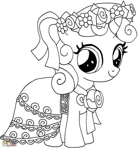 Coloring Kuda Poni by Mewarnai Gambar Kuda Poni