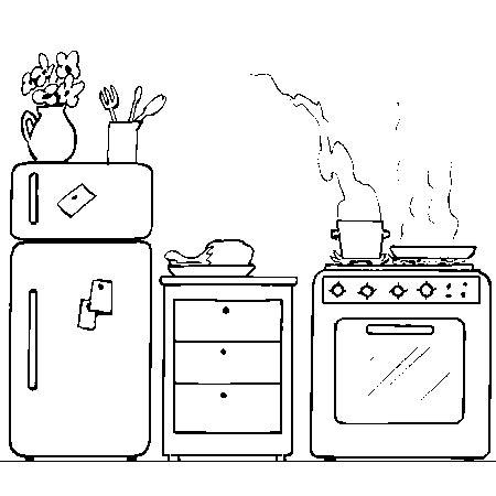dessin pour cuisine coloriage cuisine