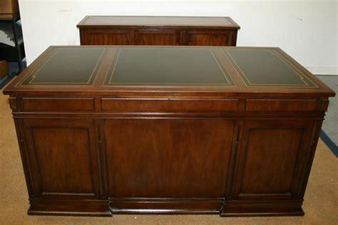 Antique Sligh Lowry Desk by Antique Sligh Leather Top Chippendale Desk Credenza Set Ebay
