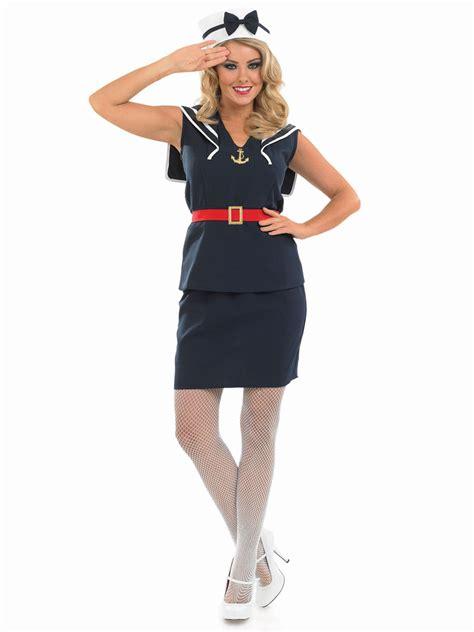 Adult Pin Up Sailor Girl Costume - FS3355 - Fancy Dress Ball