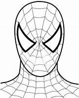 Spiderman Face Drawing Mask Coloring Getdrawings sketch template