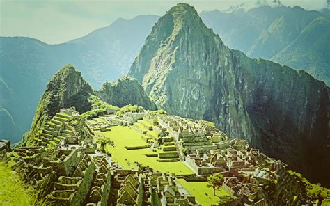 machu picchu peru widescreen wallpaper wide wallpapersnet