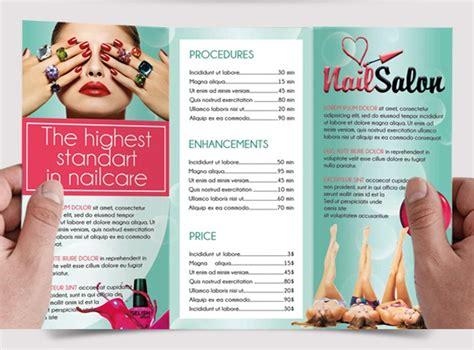 nail salon brochure designs  examples psd ai