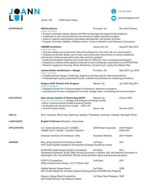 Awesome Resumes by Intern 101 How To Make An Awesome Resume Blogs Archinect
