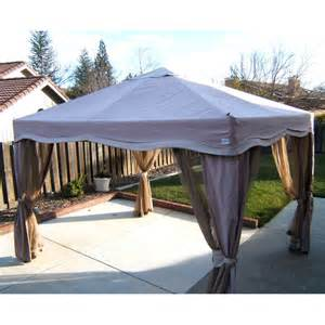 pacific casual 11 x 9 cabin style single tiered gazebo