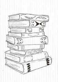 Book Illustration | how to draw books in shelf which can be read | for me | Pinterest