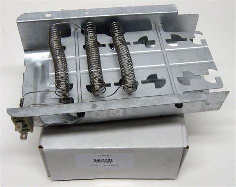wp whirlpool kenmore dryer heating element heater