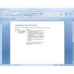 Recipe Template Microsoft Word