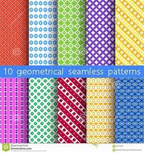 Tapete Geometrische Muster : 10 geometrische nahtlose muster muster muster vektor vektor abbildung bild 60751856 ~ Sanjose-hotels-ca.com Haus und Dekorationen
