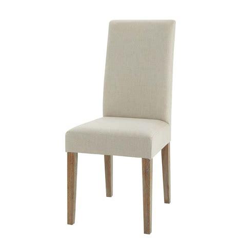 chaise en chene chaise en et chêne léonie maisons du monde