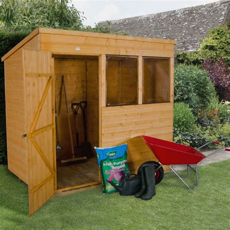 Small Sheds B Q by 7x5 Pent Shiplap Wooden Shed Departments Diy At B Q