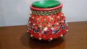 Garba - Matka Earthen Pot,Navratri decoration Diwali decor