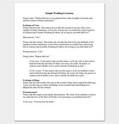 wedding ceremony outline wedding outline template 13 for word and pdf format