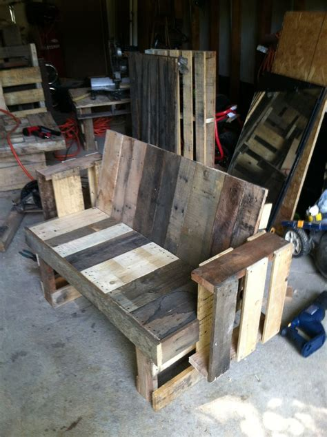 bench made from pallets pallets pallets