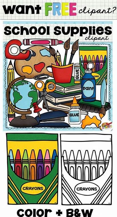 Supplies Clipart Teachers Clip Commercial Teacher Classroom