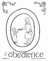 Coloring Obedience Obey Bible Alphabet Children Sunday Sons Parable Trust Matthew Lessons Parents Pdf Template Lesson Comments sketch template