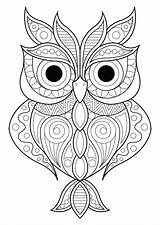 Owl Mandalas sketch template