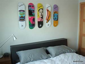 best way to securely mount skateboards to a wall diy With kitchen cabinets lowes with skateboard deck wall art