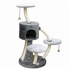 Arbre À Chat Pour Gros Chat : arbre chat design aux forme courbes arbre chat original ~ Nature-et-papiers.com Idées de Décoration