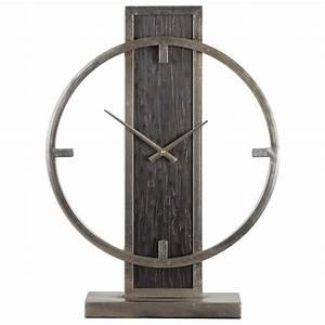 Uttermost, Clocks, 06443, Nico, Modern, Desk, Clock
