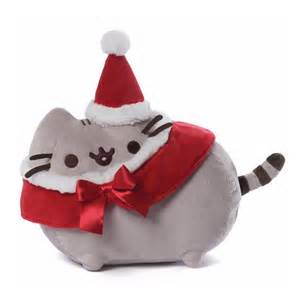 bundle gund pusheen christmas 12 inch plush 6 inch stocking ornament and santa hat