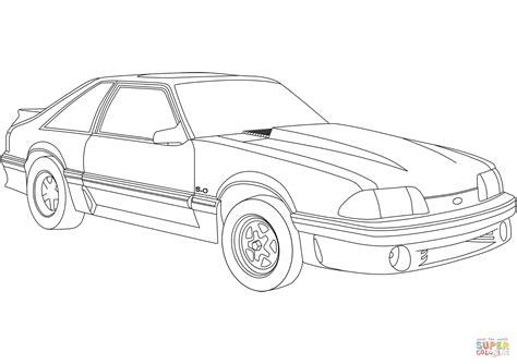 Ford Kleurplaat by Kleurplaten Auto Ford Mustang