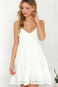 Ivory Dress Embroidered Dress White Dress 4900