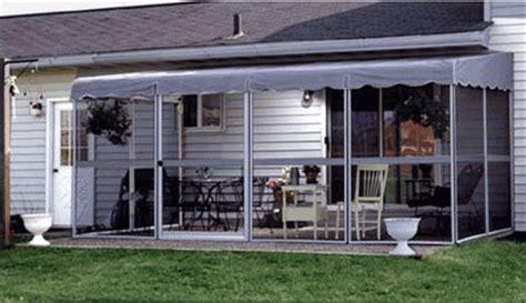 patio mate screened enclosure white gray color