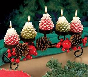 Beautiful Holiday Pine Cone Candle Centerpiece Perfect