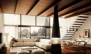 Streich Ideen Wohnzimmer : wohnzimmer mit beiger wandgestaltung holzdecke meine ziele pinterest holzdecke ~ Eleganceandgraceweddings.com Haus und Dekorationen