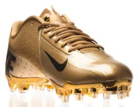 Gold Nike Vapor Talon Elite Cleats Football