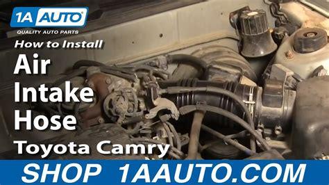 install replace air intake hose toyota camry lexus