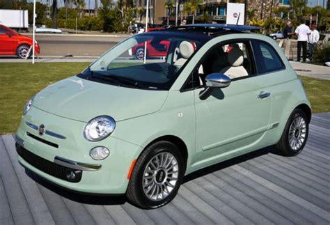 Dream Car; Fiat 500 In Mint Green