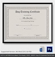 Best 25 ideas about blank certificate templates for word find dog training gift certificate template yadclub Gallery