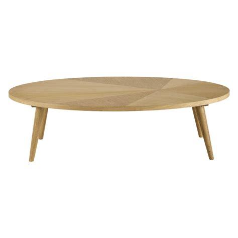 table basse ovale bois table basse en bois l 120 cm origami maisons du monde