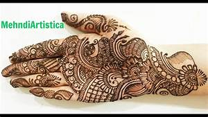 Simple Beautiful Traditional Arabic Henna Mehndi Designs ...