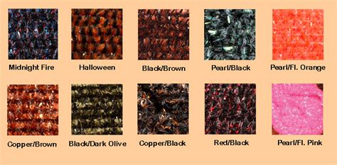 color chart speckled crystal chenille