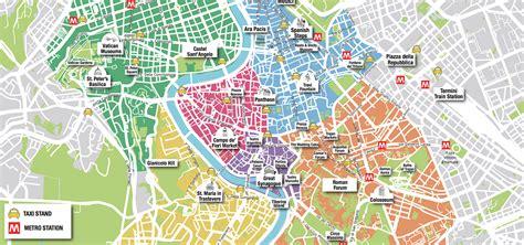 rome tourist attraction map printable joshymomoorg