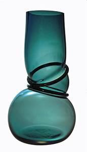 Vase Bleu Canard : vase colors double ring couleur bleu canard vanessa mitrani luminaires et vases en verre ~ Melissatoandfro.com Idées de Décoration
