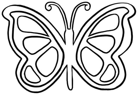 Free Pic Of Butterfly Simple In Black N White For