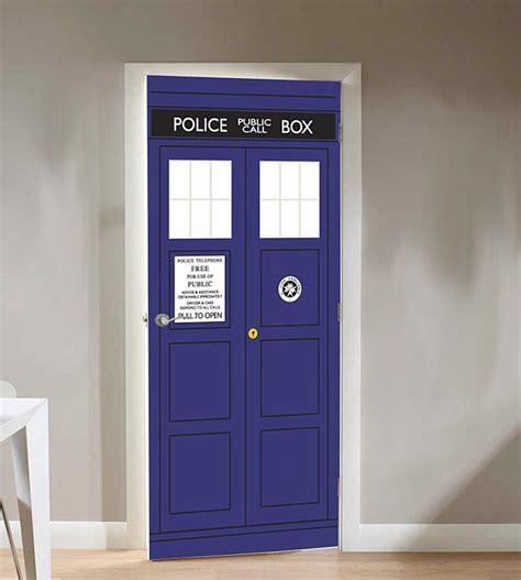 tardis door cover doctor who tardis door cling thinkgeek