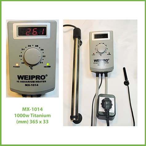 weipro mx 1014 1000w titanium heater aquarays