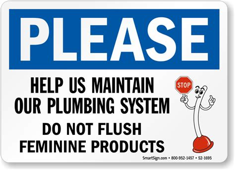 bathroom signs do not flush feminine products pictures to
