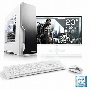 Pc Set Kaufen : csl gaming pc set i7 7700 geforce gtx 1060 16 gb ram 23 tft speed t7781 windows 10 ~ Buech-reservation.com Haus und Dekorationen