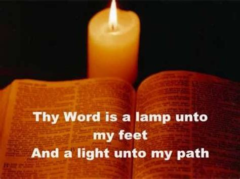 thy word is a l unto my feet meaning thy word is a l unto my feet youtube