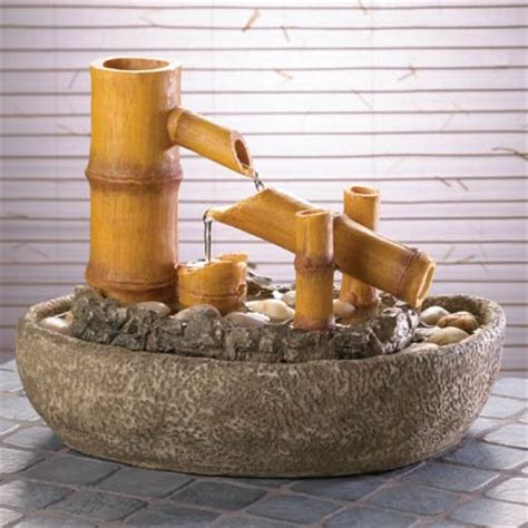 make your own tabletop fountain with bamboo