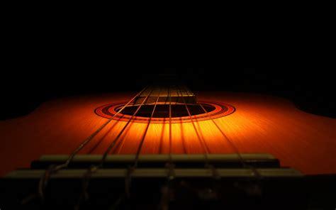 wallpaper wooden guitar dark background guitar hd