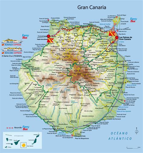 karta ostrova gran kanariya