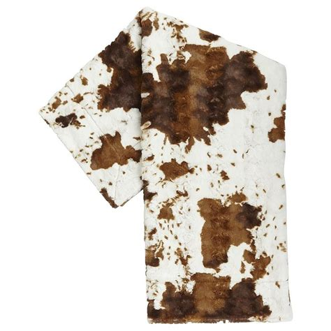 Cowhide Blanket - fuzzy faux cowhide throw the o jays pier 1 imports and