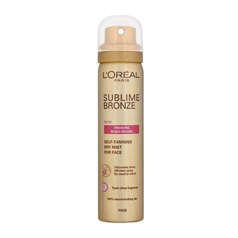 face tanning l l 39 oréal paris sublime bronze self tanning dry mist for